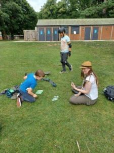 Photo of a family enjoying the Nottingham park meet